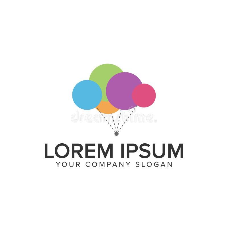 Logotipo del impulso que vuela stock de ilustración