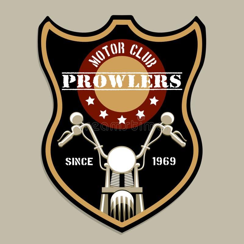 Logotipo del insignia-estilo del grupo de la motocicleta ilustración del vector