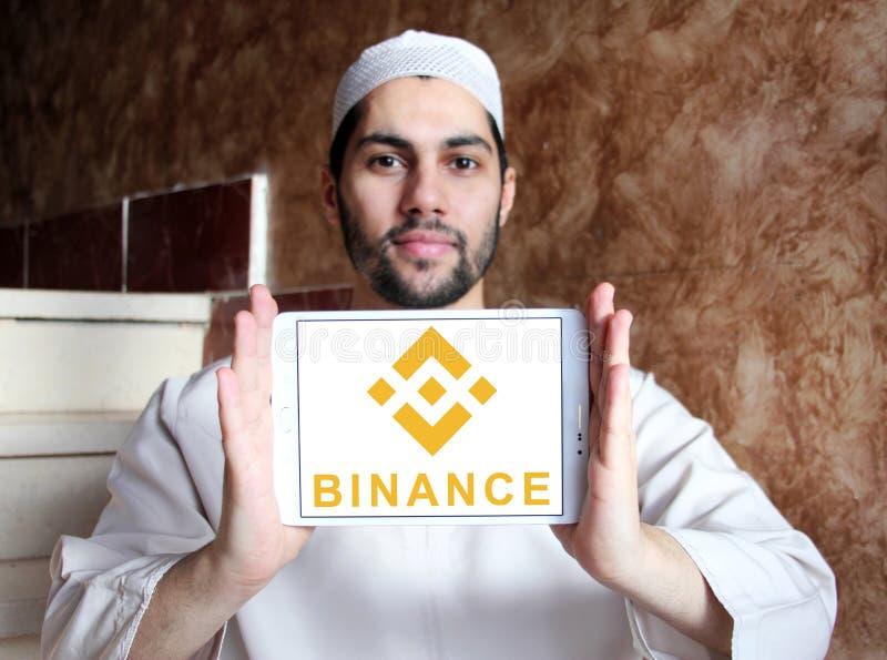 Logotipo del intercambio del cryptocurrency de Binance fotografía de archivo