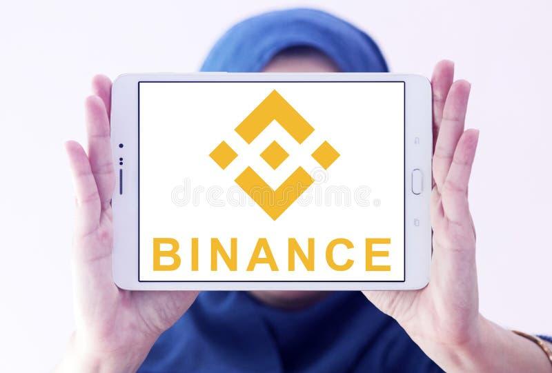 Logotipo del intercambio del cryptocurrency de Binance imágenes de archivo libres de regalías