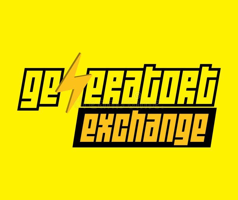 Logotipo del intercambio del generador stock de ilustración