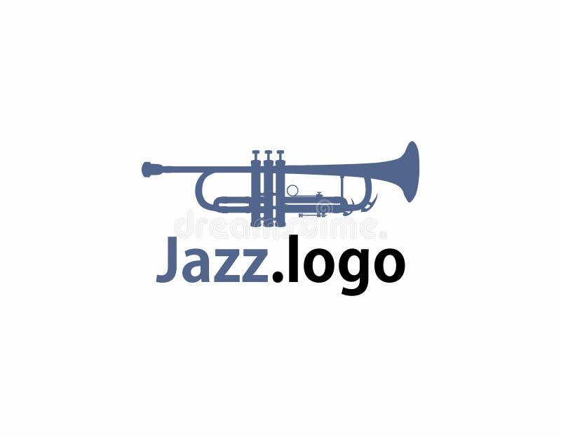 Logotipo del jazz de la trompeta ilustración del vector