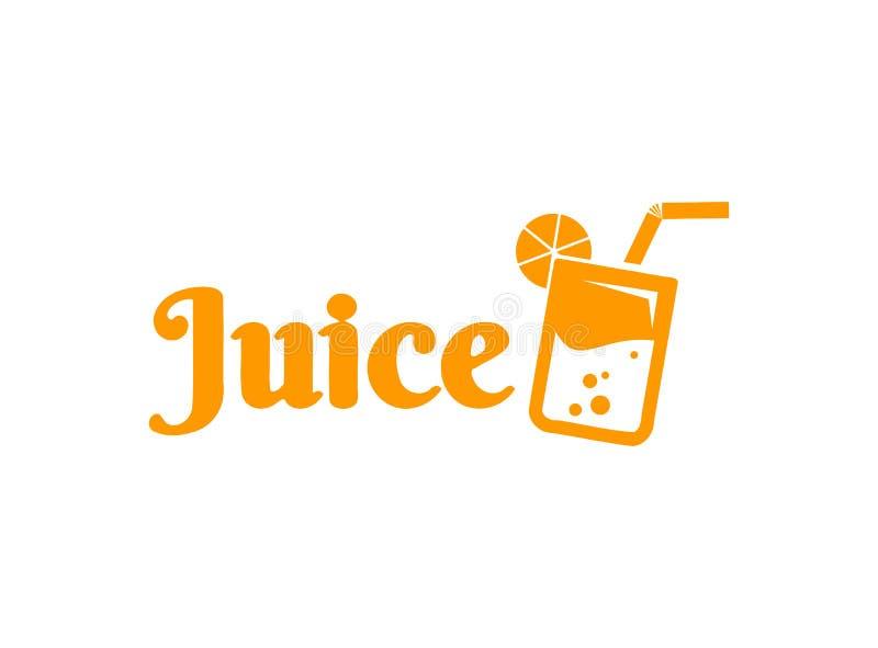 Logotipo del jugo ilustración del vector