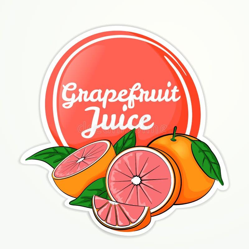 Logotipo del jugo de pomelo stock de ilustración