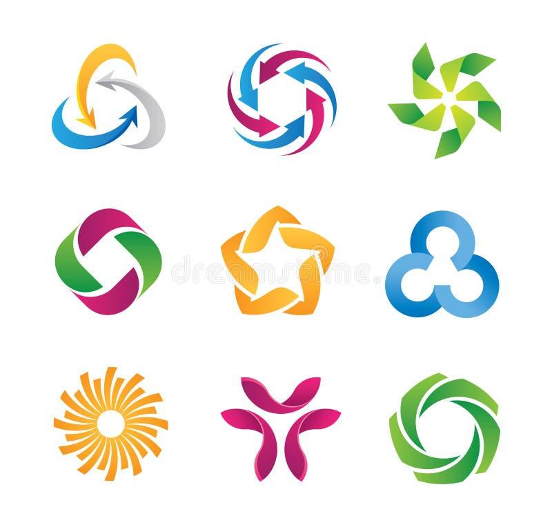 Logotipo del lazo y plantilla modernos del icono stock de ilustración