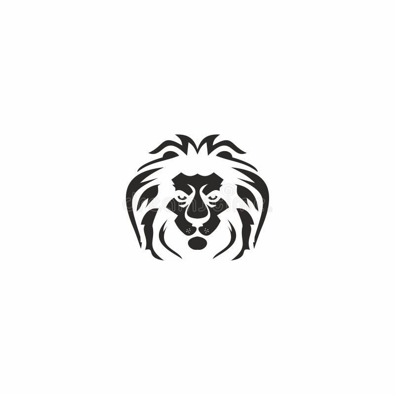 Logotipo del león del rey imagen de archivo