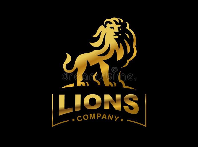 Logotipo del león - vector el ejemplo, diseño del emblema stock de ilustración