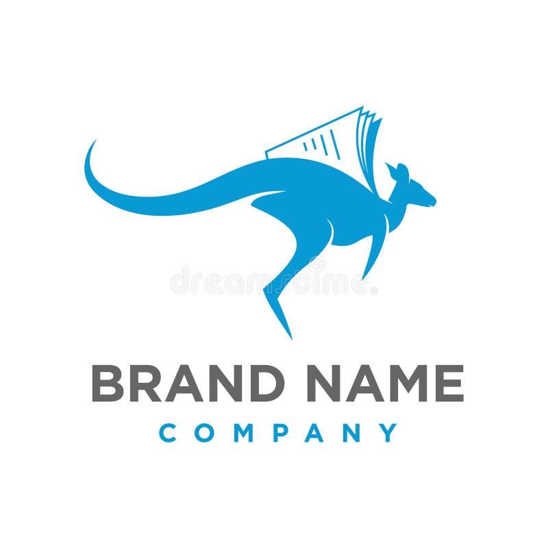 Logotipo del libro del canguro libre illustration