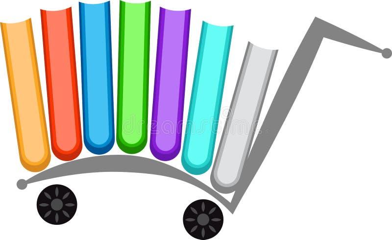 Logotipo del libro de compra ilustración del vector