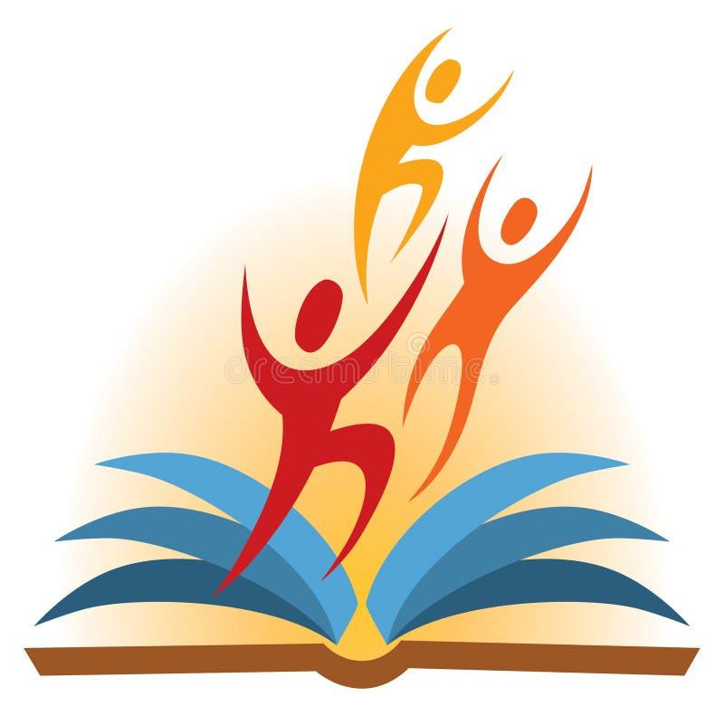 Logotipo del libro de la gente stock de ilustración