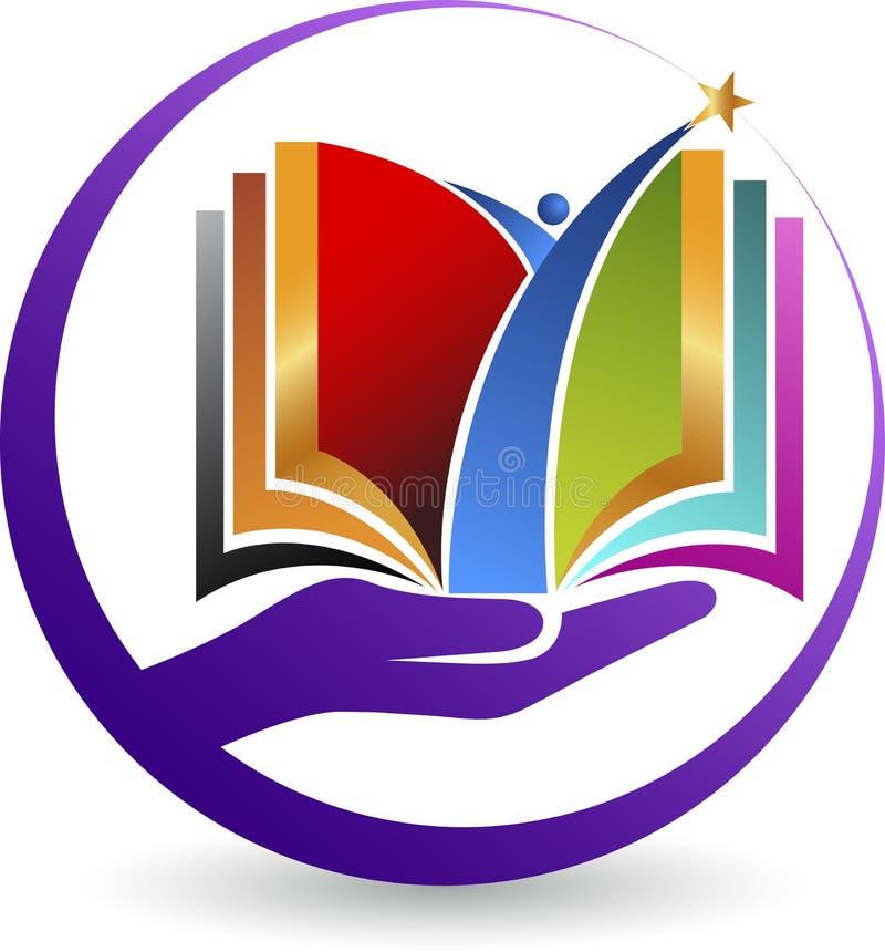 Logotipo del libro de la mano stock de ilustración