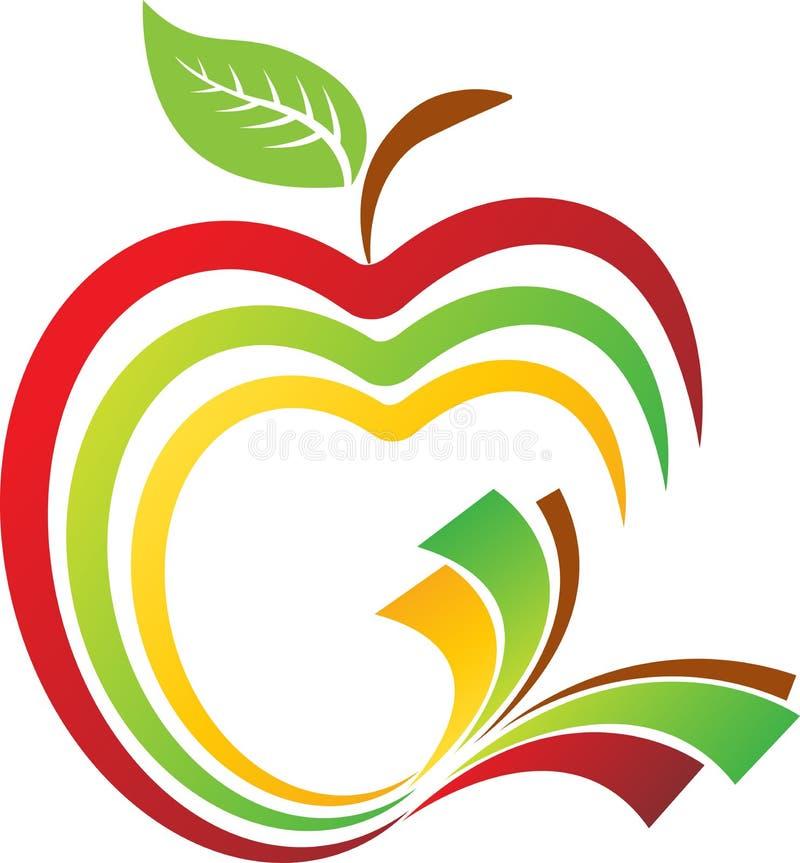 logotipo del libro de la manzana ilustración del vector