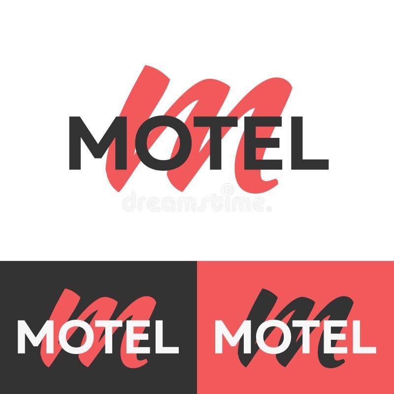 Logotipo del motel Insignia de la letra M Plantilla del logotipo del vector Concepto del logotipo ilustración del vector