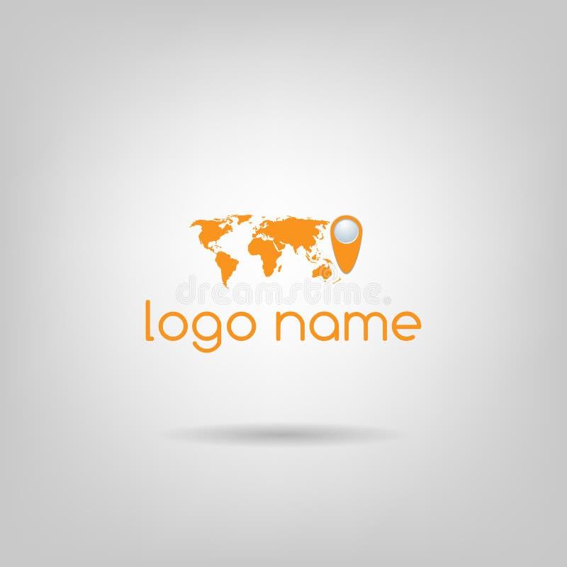 Logotipo del mundo imagen de archivo