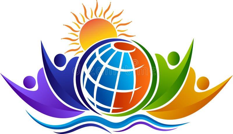 Logotipo del mundo de la comunicación ilustración del vector