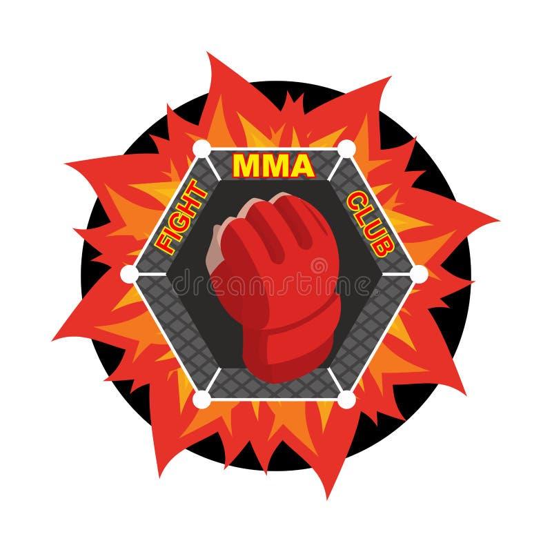 Logotipo del Muttahida Majlis-E-Amal Guante que lucha Simbolice para el equipo y el club de deportes Comba libre illustration