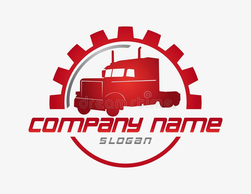 Logotipo del negocio del camión stock de ilustración