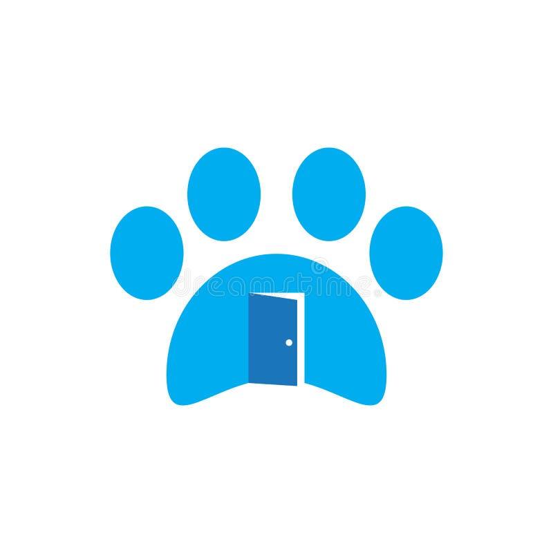 Logotipo del negocio de la casa del animal doméstico ilustración del vector