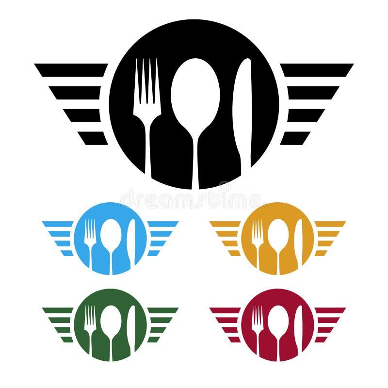 Logotipo del negocio de la comida libre illustration
