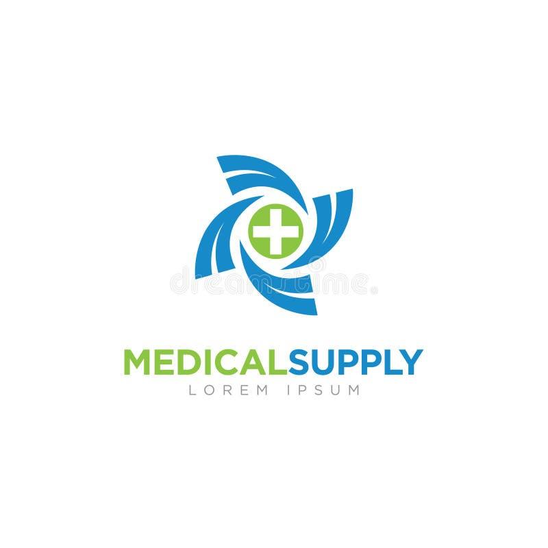 Logotipo del negocio de la compañía del suministro médico stock de ilustración