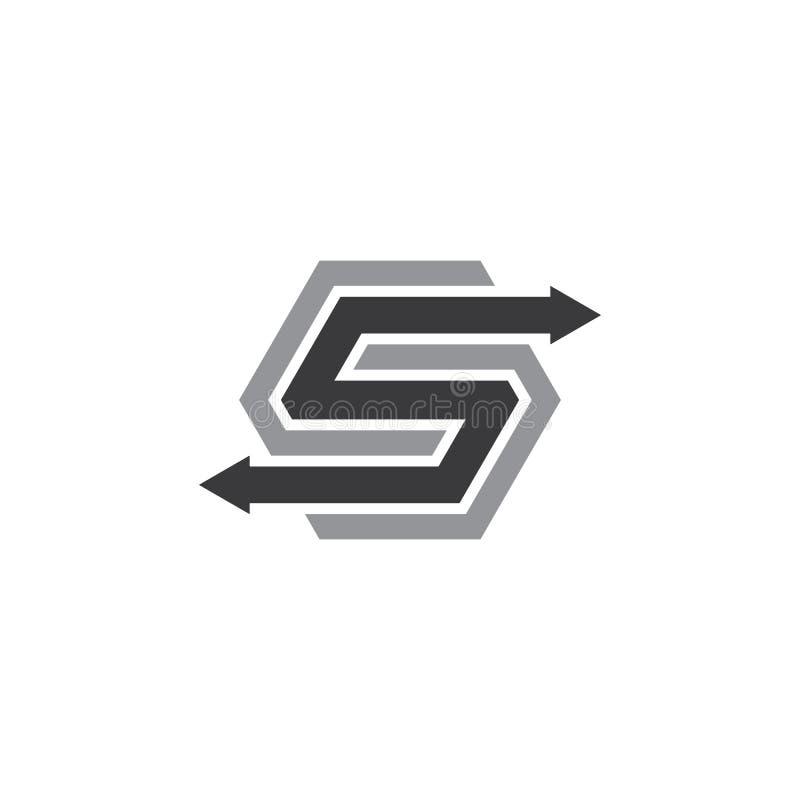 logotipo del negocio del logotipo de la letra s del hexágono libre illustration