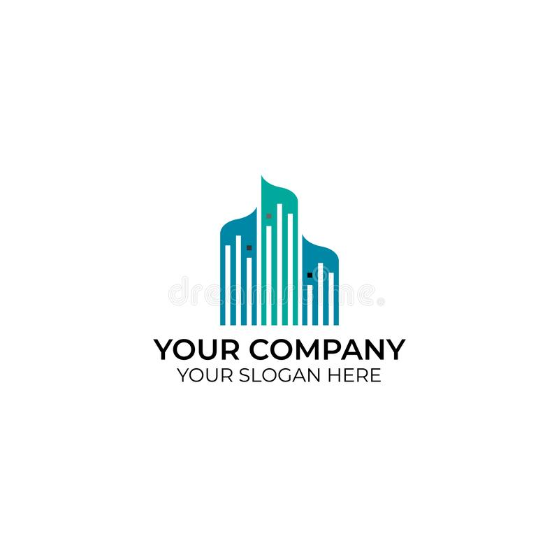 Logotipo del negocio del paisaje urbano libre illustration
