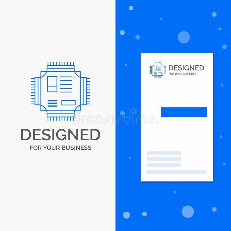 Logotipo del negocio para el microprocesador, CPU, microchip, procesador, tecnolog?a r libre illustration