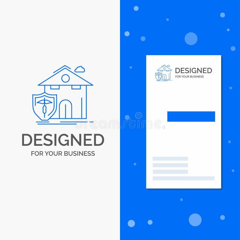 Logotipo del negocio para el seguro, hogar, casa, muerte, protección r ilustración del vector