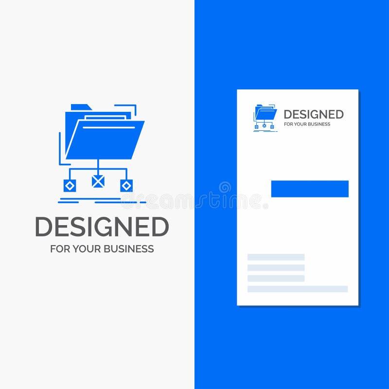 Logotipo del negocio para la copia de seguridad, datos, ficheros, carpeta, red r stock de ilustración