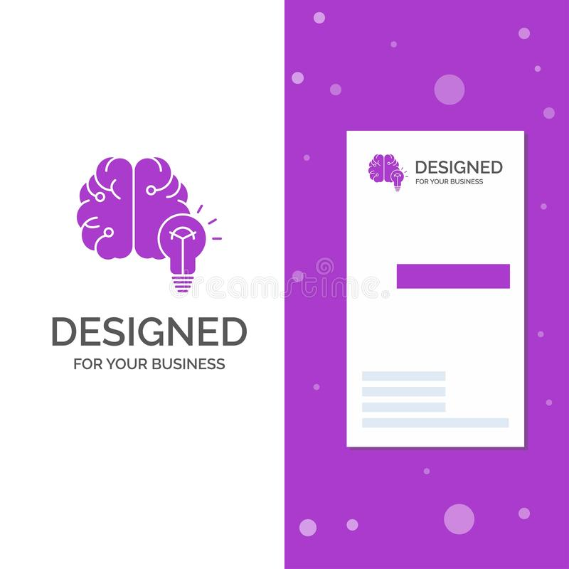 Logotipo del negocio para la idea, negocio, cerebro, mente, bulbo r Vector creativo del fondo ilustración del vector