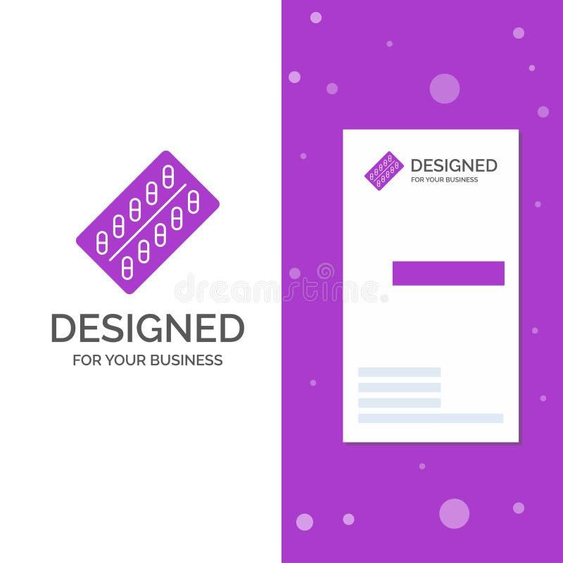 Logotipo del negocio para la medicina, p?ldora, drogas, tableta, paquete r Fondo creativo libre illustration
