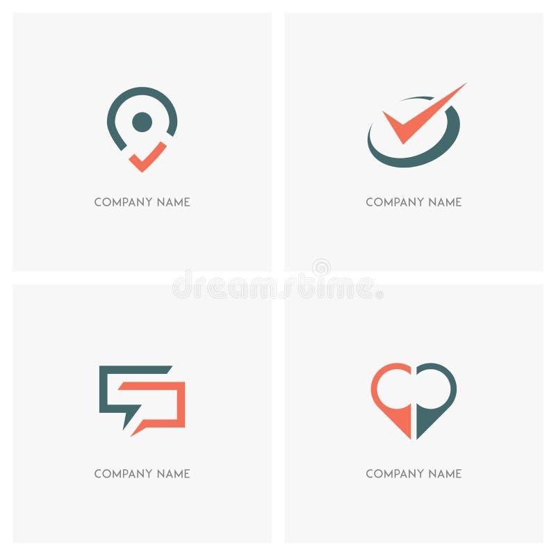 Logotipo del negocio y de los contactos libre illustration