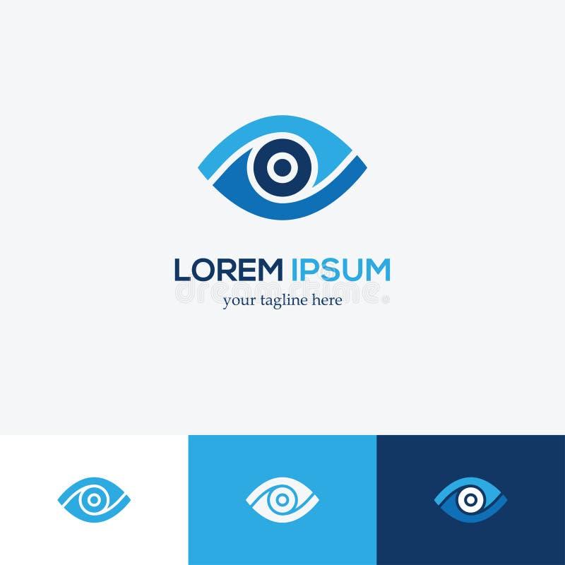 Logotipo del ojo azul ilustración del vector