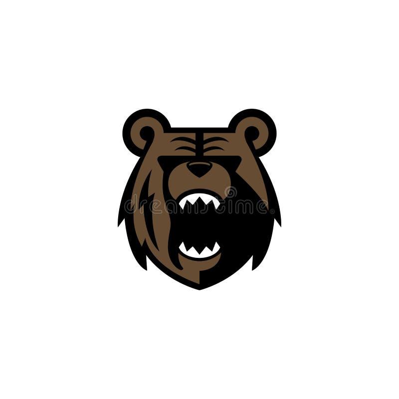 Logotipo del oso imagen de archivo libre de regalías