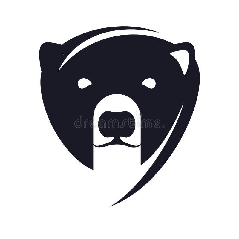 Logotipo del oso polar ilustración del vector