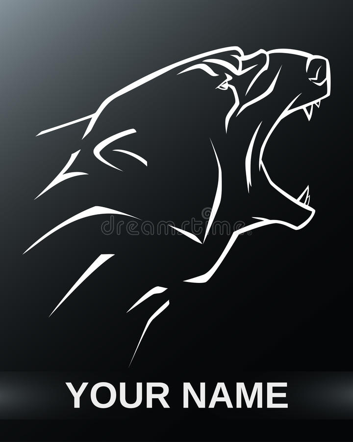 Logotipo del oso polar stock de ilustración