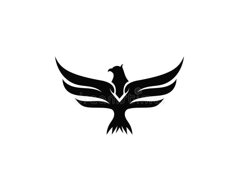 Logotipo del pájaro del halcón del ala libre illustration
