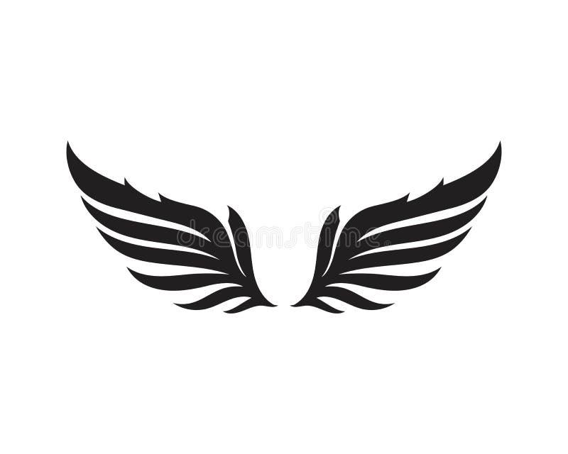 Logotipo del pájaro del halcón del ala stock de ilustración