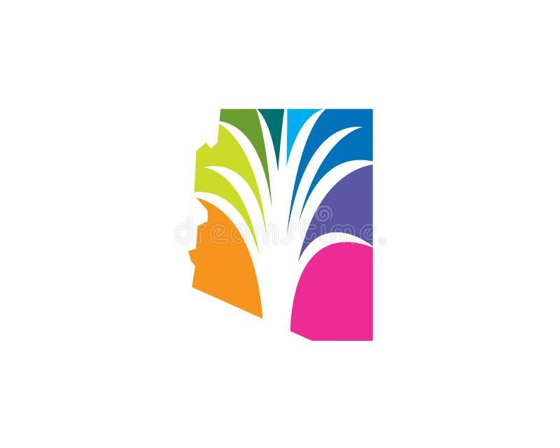 Logotipo del paisaje de Arizona ilustración del vector