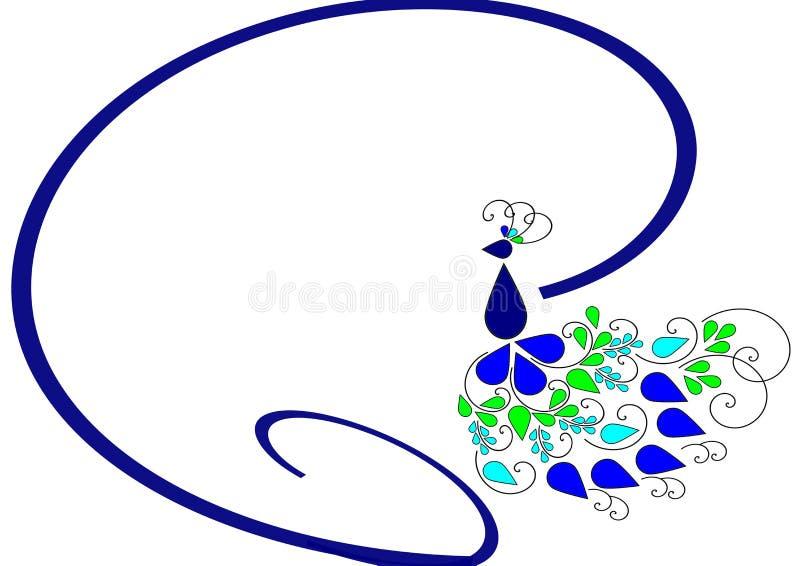 Logotipo del pavo real fotos de archivo libres de regalías