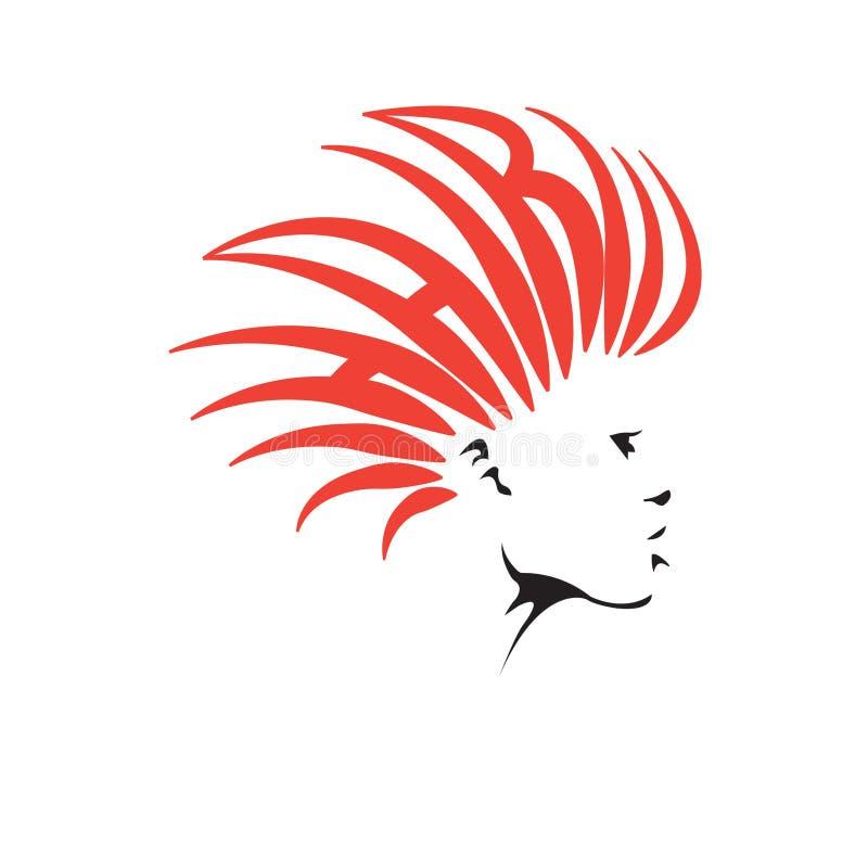Logotipo del peluquero stock de ilustración