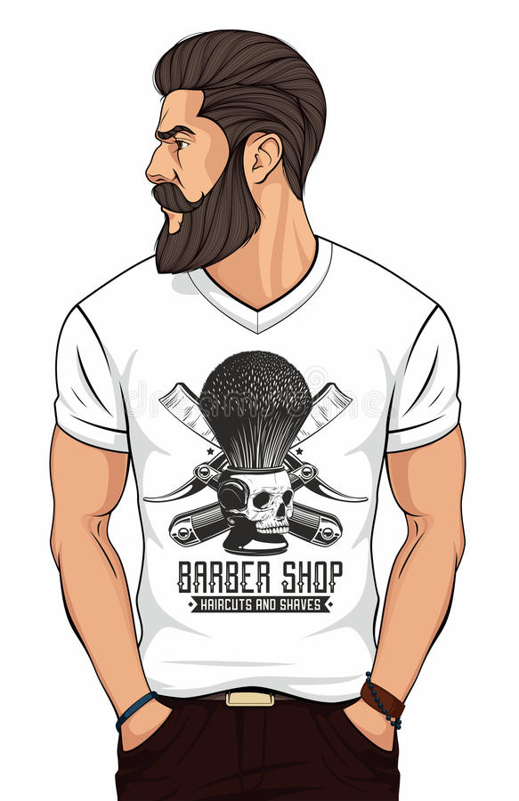 Logotipo del peluquero ilustración del vector