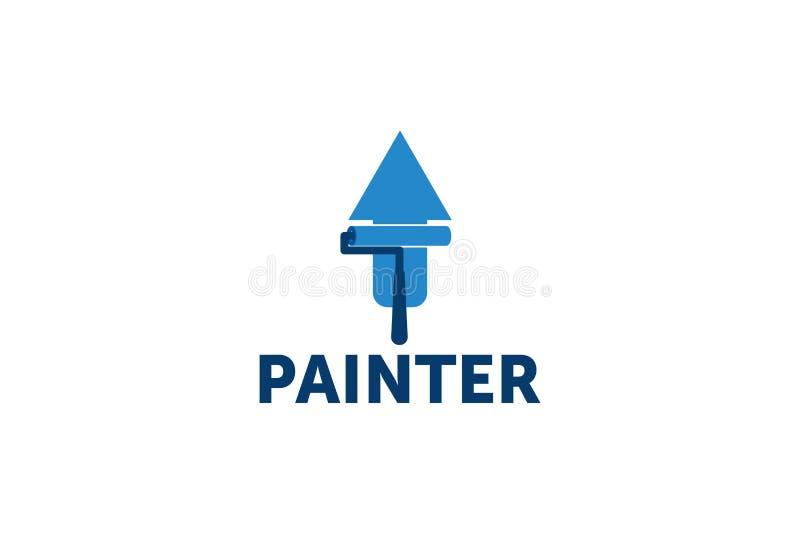Logotipo del pintor stock de ilustración