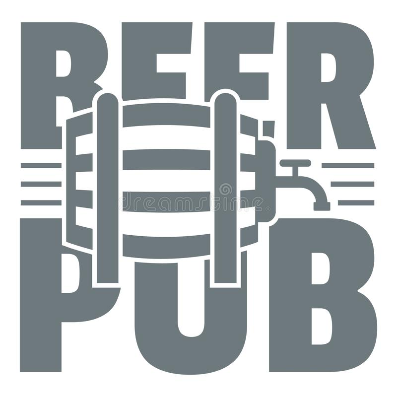 Download Logotipo Del Pub De La Cerveza, Estilo Gris Simple Ilustración del Vector - Ilustración de festival, barra: 100525047
