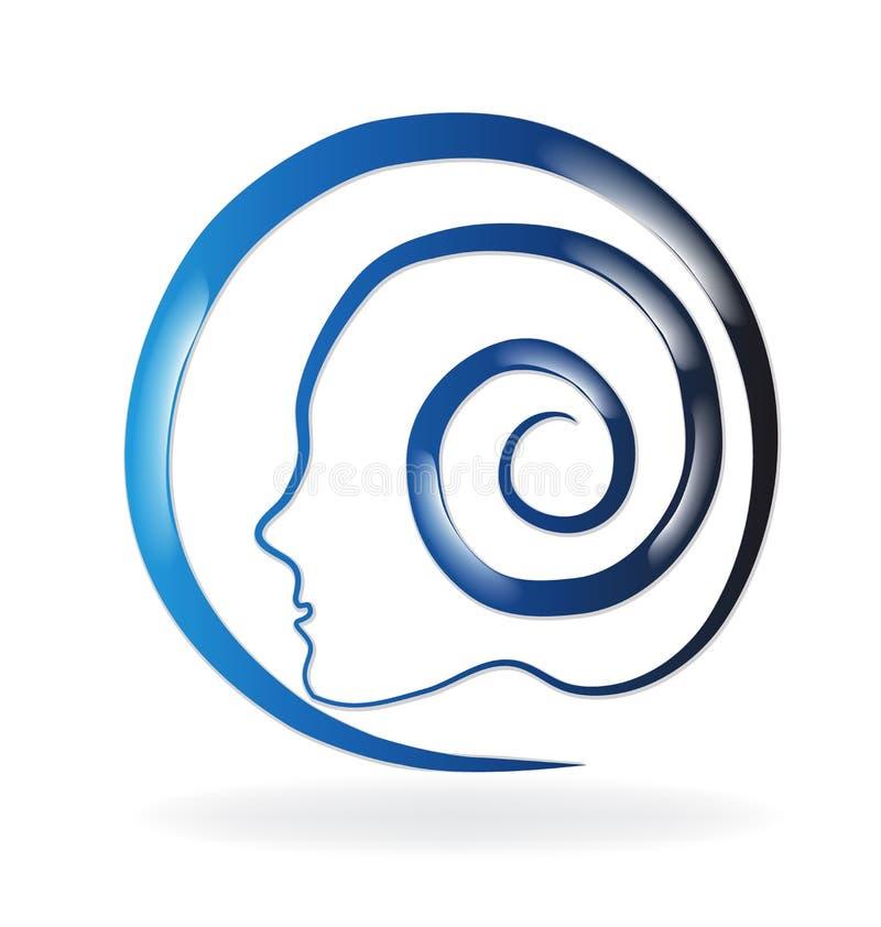 Logotipo del remolino del cerebro ilustración del vector