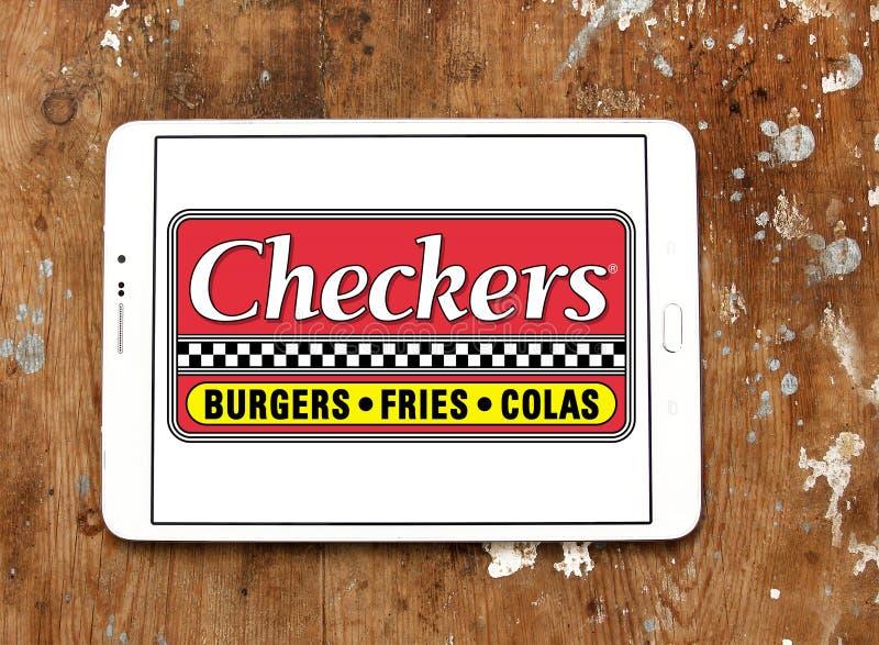 Logotipo del restaurante de los alimentos de preparación rápida de los inspectores imagenes de archivo
