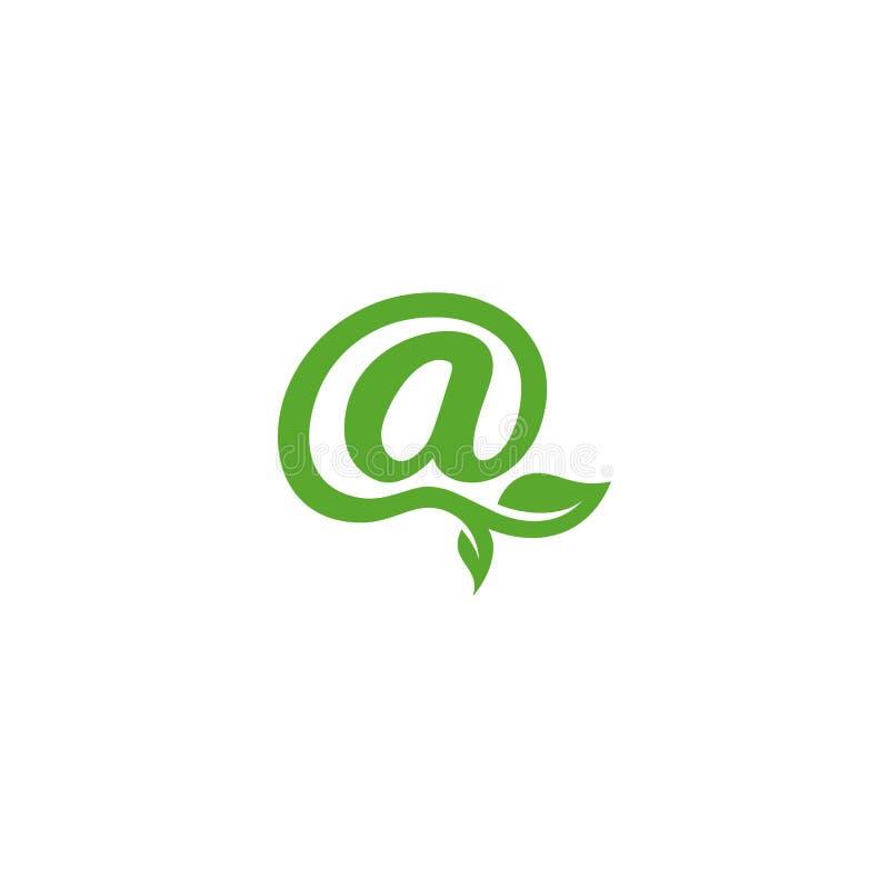 Logotipo del símbolo del correo electrónico de la naturaleza libre illustration