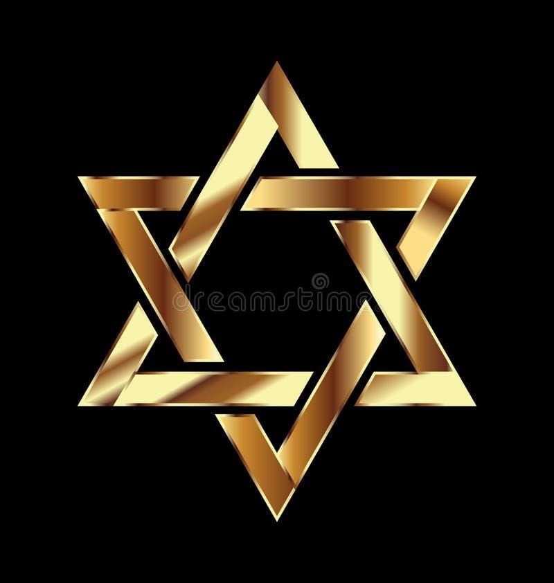 Logotipo del símbolo de la estrella del oro ilustración del vector