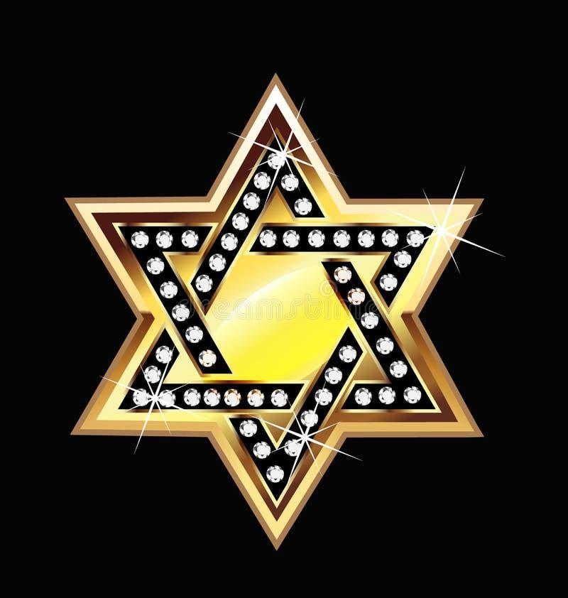 Logotipo del símbolo de la estrella del oro libre illustration