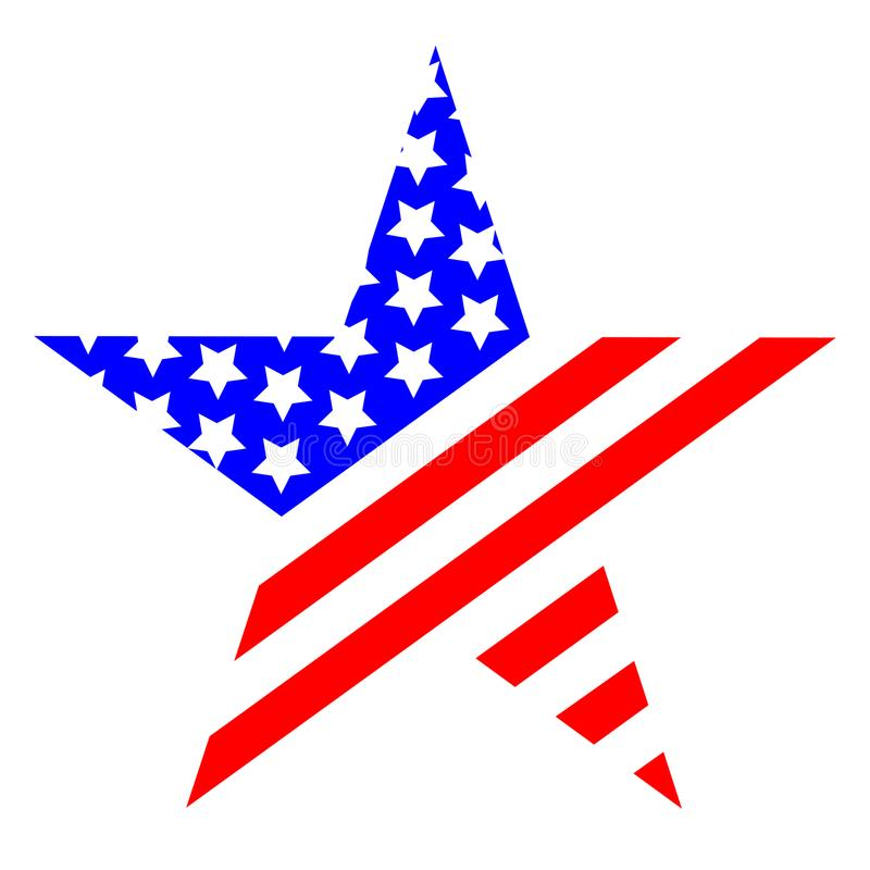 Logotipo del símbolo de los Estados Unidos de América de la estrella ilustración del vector